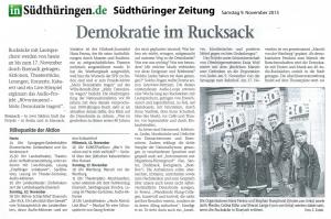 2013-09-11 – Suedthueinger Zeitung STZ - Vorbericht vom 09-11-2013